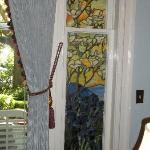 Another Tiffany window in the parlor.