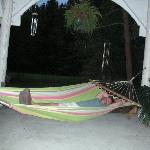 An after dinner swing in the hammock