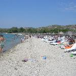  Beach on a busy day, weekend in Septenber