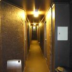 Narrow dark corridors