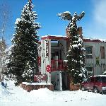 Lodge after snow storm