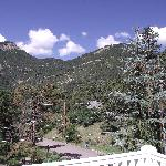 View of Pikes Peak from balcony