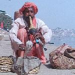 Snake Charmer on the Ganges