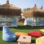 Fab huts on the beach - You'll pay double the price for a drink to sit here!!