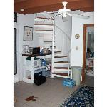 The loft staircase/appliances