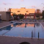  The pool from the bar, just before the sun set