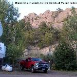 Rimrocks surround campground