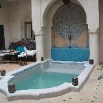 Plunge pool and courtyard