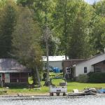Okimot Lodge and Cabins from Lake Tomiko