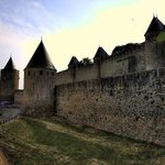 Carcassonne - outside the walls, evening