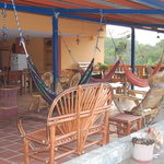  Terrace with hammocks and fridge