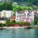 Seehotel Gotthard from Lake Lucerne ferry