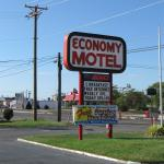 "The motel sign. The free ""sunrise"" breakfast was a joke!"