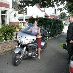 Fay on the Harley !