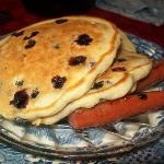 Blueberry Pancakes with Sausage
