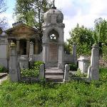 grave in Jewish section of cemetery