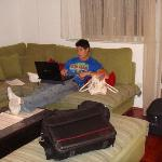 Setting up Wi-Fi on big, comfy couch