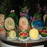  Display of beautiful melons