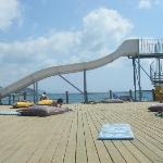 Slide on the jetty