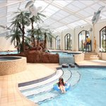A view of the 4 indoor Fun Pools (Open April to October)