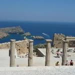 View from Lindos Acropolis