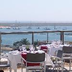 View from the restaurant to Ria Formosa Natural Park