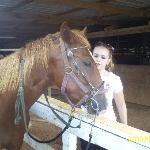  Amy petting the horse