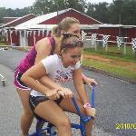  Amy and Jessica riding trikes