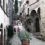 nearby is the beautiful walled medieval town of Anghiari