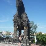 the horse from the flim Troy in Canakkale