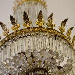  The antique chandelier in the dining room