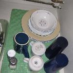 small supply of dishes