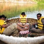 in the coracle ride..