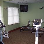 Fitness Center (Partial View) - Very Clean - Towels/Water/Dressing Room
