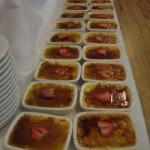  Rows of mini creme brulee!