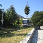 Train at the top station (Kakavryta)
