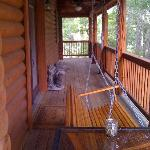 One side of the porch.