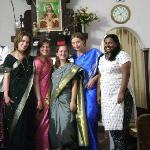  Stanley and jasmin with their guests in saree