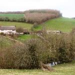 Rockhaye B&B in relation to the river obscured by the tree line
