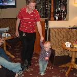 Uncle Dave doing his rounds with my grandson Mathew