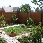 The attached private garden area
