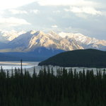Scenery behind Abraham Lake