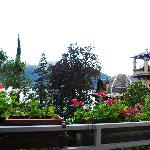 view from patio of Lake Como