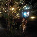View from our porch at night- very pretty