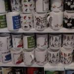 Mugs in the gift shop