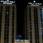 Golden Tulip at night