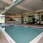 Indoor pool and deck for year-round fun
