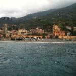 view of Monterosso al Mare from the water