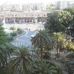 View of Bari train station from my room in Leon D'oro Hotel