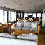 This is the communal living room. Very few  people used it while we were there.
